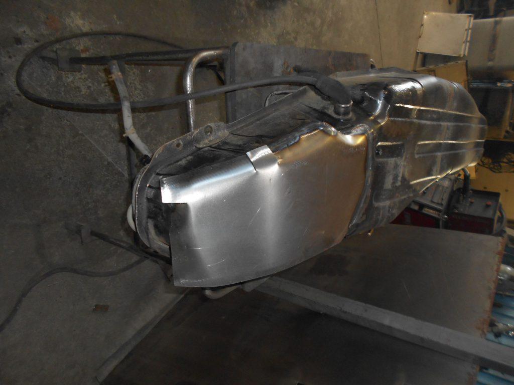 Ремонт ржавого бензобака Mitsubishi Pajero