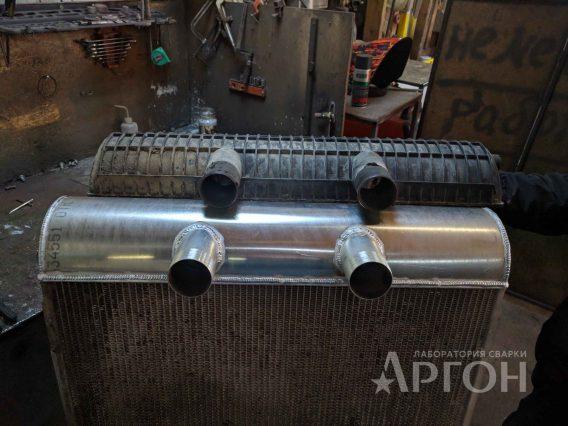 Изготовление бачка радиатора экскаватора